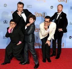 Strike a Pose - The Golden Globes like to think of themselves as a serious awards show, but don't tell that to the men of Modern Family. The funny guys vamped for the camera backstage, proving they're just hilarious when they aren't in character. Family Love, Family Guy, Phil Dunphy, Modern Family Quotes, Family Images, Cinema, Best Shows Ever, Best Tv, Favorite Tv Shows