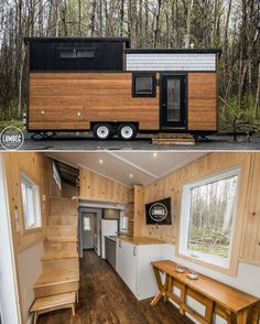 Lumbec tiny house on wheels design - Tiny homes Tyni House, Tiny House Cabin, Tiny House Living, Tiny House On Wheels, Tiny House Exterior Wheels, Tiny House Trailer, Living Room, Home Design, Tiny House Design