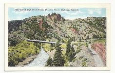 Curved-High-Steel-Bridge-Phantom-Canon-Colorado-Unposted-Vintage-Postcard