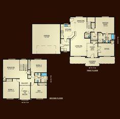 The Lewisville 2325 Home Plan Adair Homes Floor