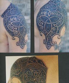 Celtic Shoulder Armour Tattoo