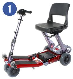 Luggie Foldable Mobility Scooter Image Gallery