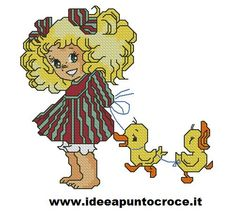baby candy punto croce