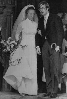 Royal weddings: Richard , duke of Gloucester with Birgitte van Deurs. July 8, 1972