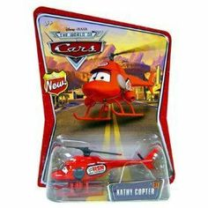 """Disney Pixar World of Cars New"""" Badge Carded KATHY COPTER 1:55 Vehicle"""" [Toy] by mattel. $3.95. 1:55 Scale Direcast Vehicle"""