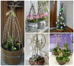 Spring Has Sprung, Deco Table, Ikebana, Holidays And Events, Fresh Flowers, Trees To Plant, Plant Hanger, Easter Eggs, Ladder Decor