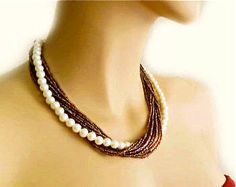 colored pearl necklace - Google Search