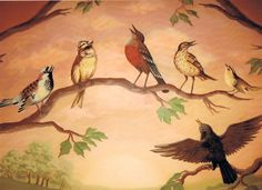 Birds Wall Murals Design Ideas