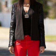 Mango Jackets  Blazers - Mango casual black sequins blazer XS