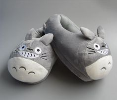 "11"" Totoro Adult Slipper Slippers Shoes Doll JP My Neighbor Catbus Ghibli"