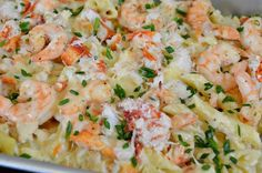Lobster, Crab and Shrimp Baked Macaroni and Cheese Recipe Shrimp Mac And Cheese Recipe, Seafood Mac And Cheese, Shrimp And Lobster, Macaroni Cheese Recipes, Lobster Recipes, Baked Macaroni, Crab Recipes, Seafood Dishes, Pasta Dishes