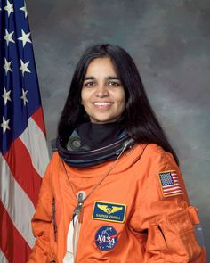 The first Indian-born woman in space died when the space shuttle Columbia broke up on re-entry.