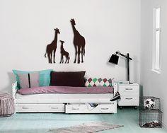 Simple Diese wundersch ne Giraffenfamilie besteht aus unterschiedlich gro en Giraffen Eine sch ne Wanddeko f rs