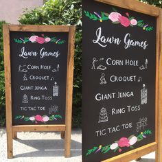 Lawn Games Wedding Sign  Rustic Wedding by heartandhandshop