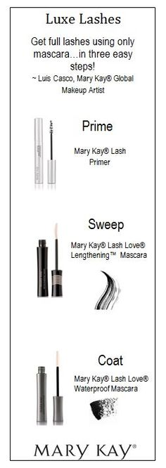 Ditch the falsies and take your mascara game to the next level with these runway-ready tips from Mary Kay® Global Makeup Artist, Luis Casco! www.marykay.com/mccall-williams