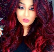 Pink-Red with Yellow Highlights - 20 Cool Styles with Bright Red Hair Color (Updated for - The Trending Hairstyle Shades Of Red Hair, Bright Red Hair, Dark Red Hair, Hair Color Dark, Purple Hair, Brown Hair, Bright Red Highlights, Blood Red Hair, Red Purple