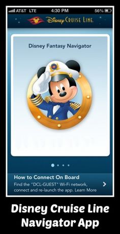 Disney Cruise Line Navigator App Now Available
