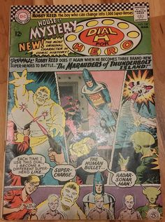 The House of Mystery (Dial H For Hero) #157 August 1966 DC Comics Aug, Super Charger, Human Bullet, Sonar-Radar Man, Silver Age
