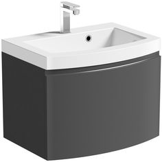 Mode Harrison Slate Wall Hung Vanity Unit And Basin