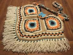 Trendy Ideas For Crochet Granny Square Top Ganchillo Crochet Scarf Easy, Crochet Yarn, Free Crochet, Crochet Granny, Crochet Shell Stitch, Hand Crochet, Crochet Purse Patterns, Knitting Patterns Free, Free Pattern