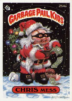 Since I've been doing quite a bit of Garbage Pail Kid related artwork recently I decided it was time to do a Christmas themed illustration. Caricatures, Garbage Pail Kids Cards, Winnie, Kids Board, Arte Horror, 80s Kids, Kids Stickers, Patch Kids, Kids Corner