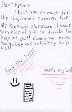 Ms. Kinkaid - Document Camera