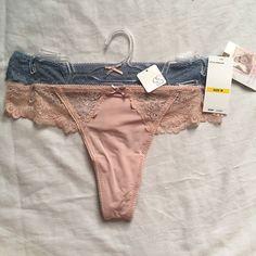 e5c9a70e8532be 2 Pair Jessica Simpson Thong Panties Size M