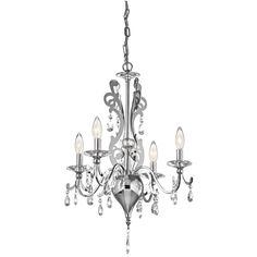 """25.00"""" Tall x 18.00"""" W Mini Chandelier; 9 Candelabra Bulbs, 60 watts; Nine Light Chrome Finish Rizzo Collection; Style: Traditional; $650.00"""