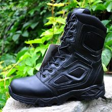 US $53.77 Men Boots Army Shoes Genuine Leather Combat Assault Boots SWAT Military Desert Shoes For Men Ankle Boots Work Army Botas. Aliexpress product