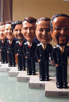 Personal bobble heads for groomsmen gift. Funny, and original!