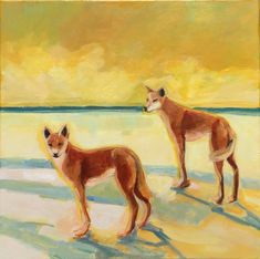 """DINGO DUO"" by Elizabeth Braun. Sydney artist I 60 x 60 cm Acrylic on canvas. Paintings for Sale. Buy Art Online, Animal Art, Paintings For Sale, Art, Portrait Painting, Animal Paintings, Oil Painting Portrait, Online Art Gallery, Owl Painting"