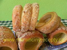 Trdelníky kváskové Doughnut, Peach, Candy, Desserts, Recipes, Gardening, Food, Tailgate Desserts, Peaches