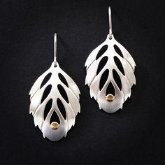 Kate Case. Sterling silver & 18k gold earrings. www.katecase.com