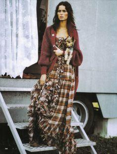 mini tartan dress with ruffles