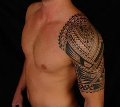 Tribal Half Sleeve Tattoos For Men #tattoos #tattoodesigns #tribaltattoosformen…