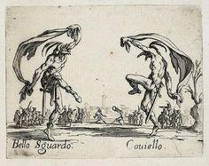 Bello Sguardo and Couiello, from Dance of Sfessania (c. 1622)