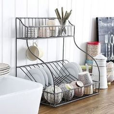 UTILITY DISHRACK    This dishrack has a lot going for it in our book - it's big enough to hold a decent amount of crockery for a start and looks great too.