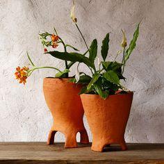 Ceramic Planter Clay Pot rustic home decor by GlinkaDesign on Etsy