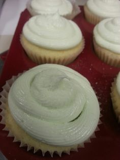 Lime margarita cupcakes, complete with sea salt sprinkles