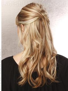 Pretty half up bouffant... Here's how you can get this look! http://www.latest-hairstyles.com/formal/half-updos.html