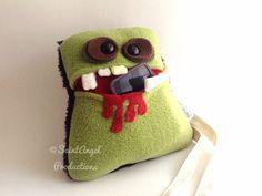 Handmade Zombie Purse Monster Pocket Mouth Mini Bag by SaintAngel, $35.00