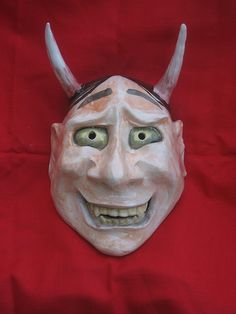 Hannya 般若. The Hannya mask is a ghost spirit mask  used in Noh Japanese drama (By DUCKMARX)