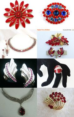 Vintage Reds - Jewelry from Vjt by moonbeam0923 on Etsy--Pinned with TreasuryPin.com