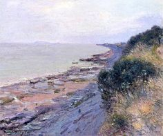 Cliffs at Penarth, Evening, Low Tide / Alfred Sisley, 1897