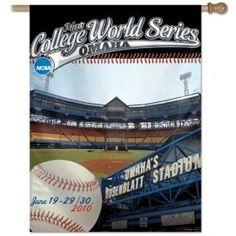 """College World Series 2010 27""""""""x37"""""""" Banner Z157-3208586862"""