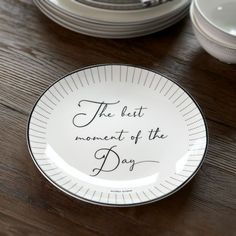RIVIERA MAISON - HAPPY CHEF BREAKFAST PLATE - SOFIES VILLA Breakfast Plate, Pie Dish, White Porcelain, Decorative Plates, In This Moment, Good Things, Happy, Bowls, Villa