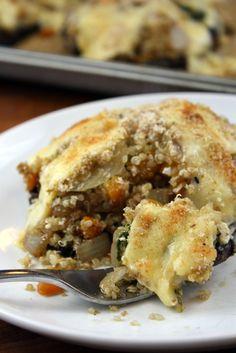 Quinoa Stuffed Portabella Mushrooms | The Kitchen Paper