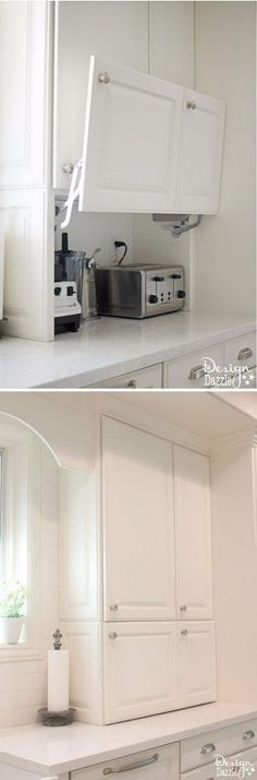 Awesome Useful Tips: Kitchen Remodel Green farmhouse kitchen remodel legs.Farmhouse Kitchen Remodel Legs kitchen remodel ideas u shaped. Küchen Design, Design Case, House Design, Design Ideas, Kitchen Cabinets, Kitchen Appliances, Black Appliances, Dark Cabinets, Hidden Storage