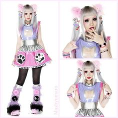 Some of the pictures from the photoshoot I had a while back for @magical_ulala and her brand Kiss me Kill me ♡ Promised to upload some here~! This is the FuturistiKitty dress with matching fluffies
