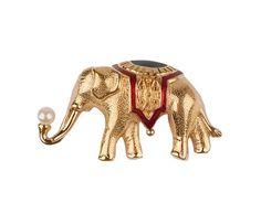 Monet Elephant Brooch